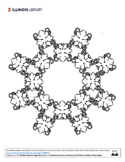 snowflake shape composed of a printer's end mark